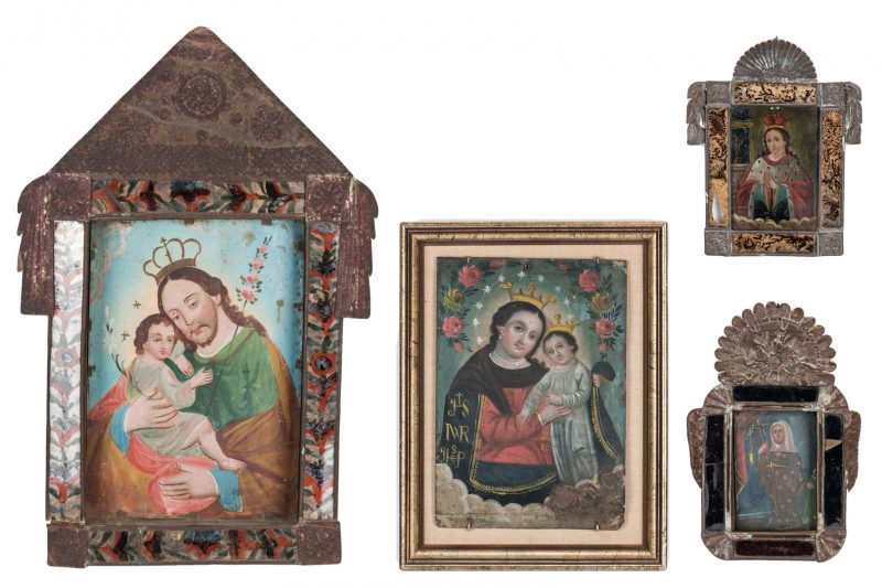Lot 84: 4 Ex-Voto Mexican Retablos