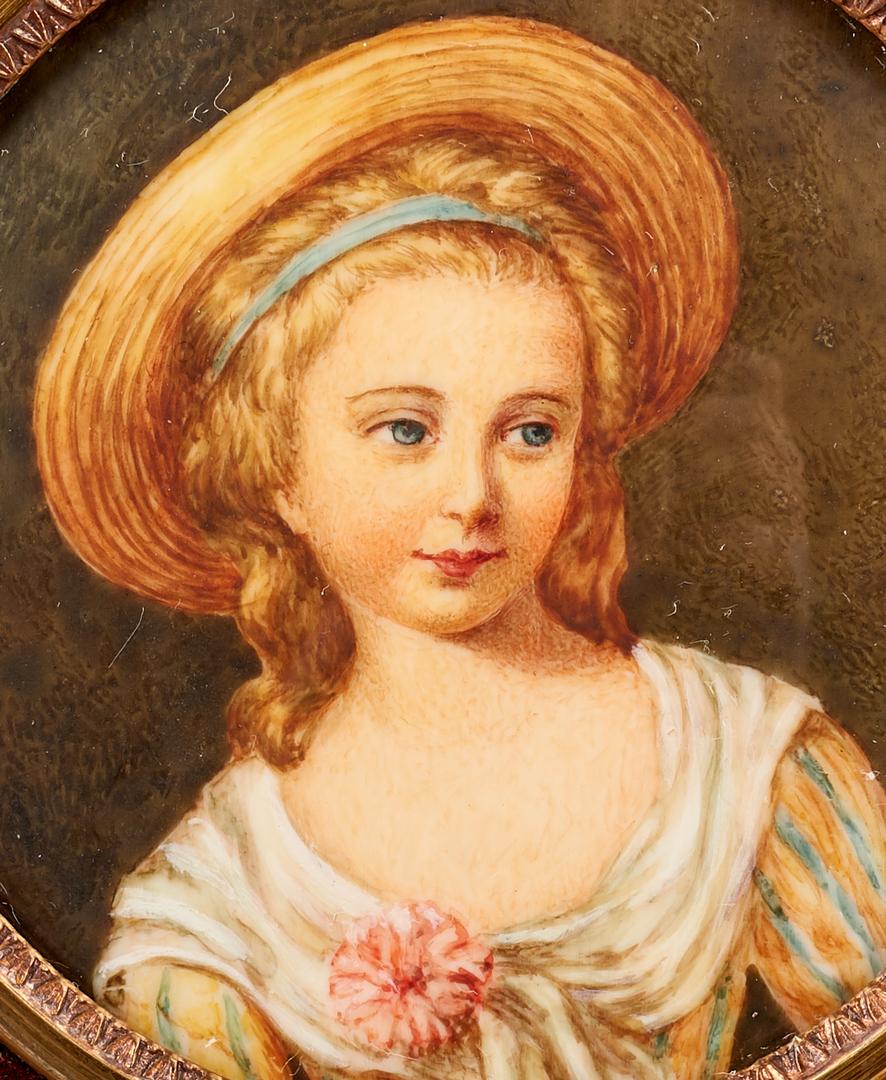 Lot 851: 2 Miniature Portraits plus Meissen Medallion