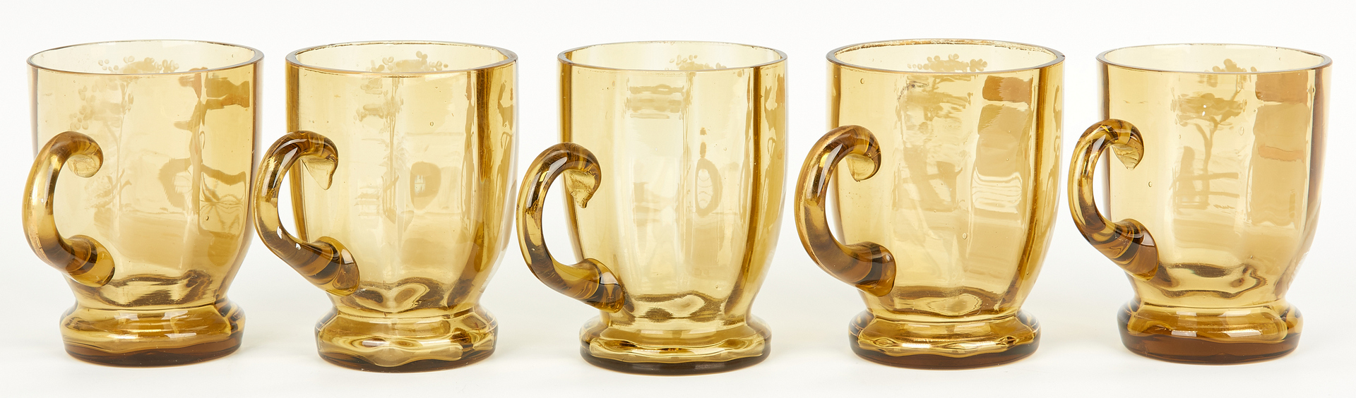 Lot 853: Mary Gregory Bicycle Punch Bowl & Cups