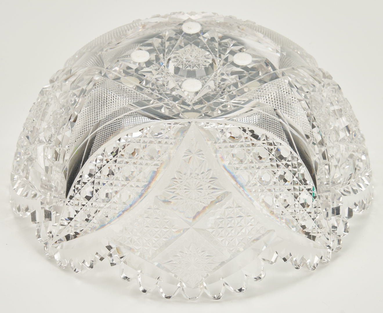 Lot 855: 4 Pcs. Cut Glass, incl. Cream, Sugar and signed Hawkes, Strauss