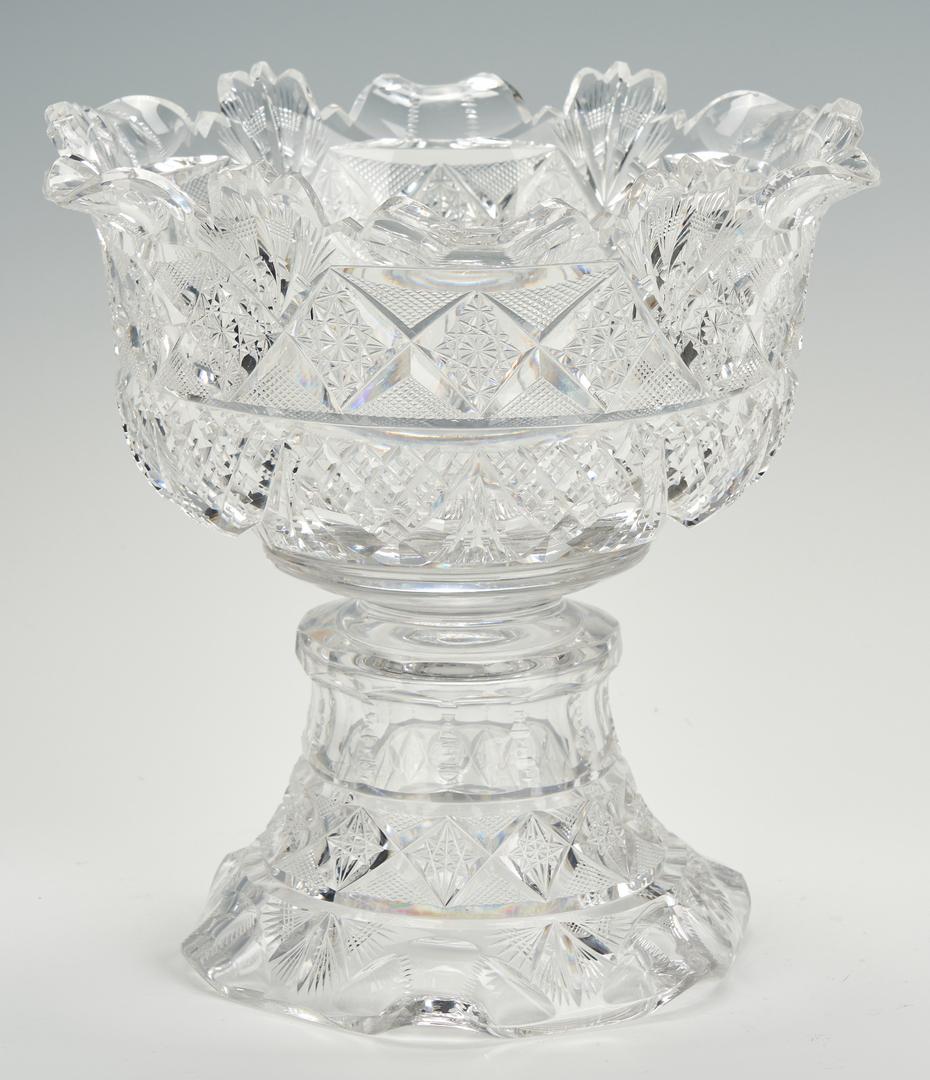 Lot 858: ABPCG  Pedestal Bowl signed Pitkin & Brooks