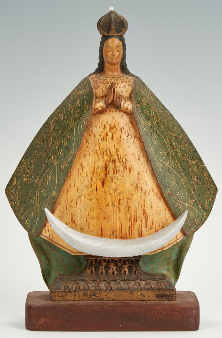 Lot 85: 5 Carved Wood Santos figures