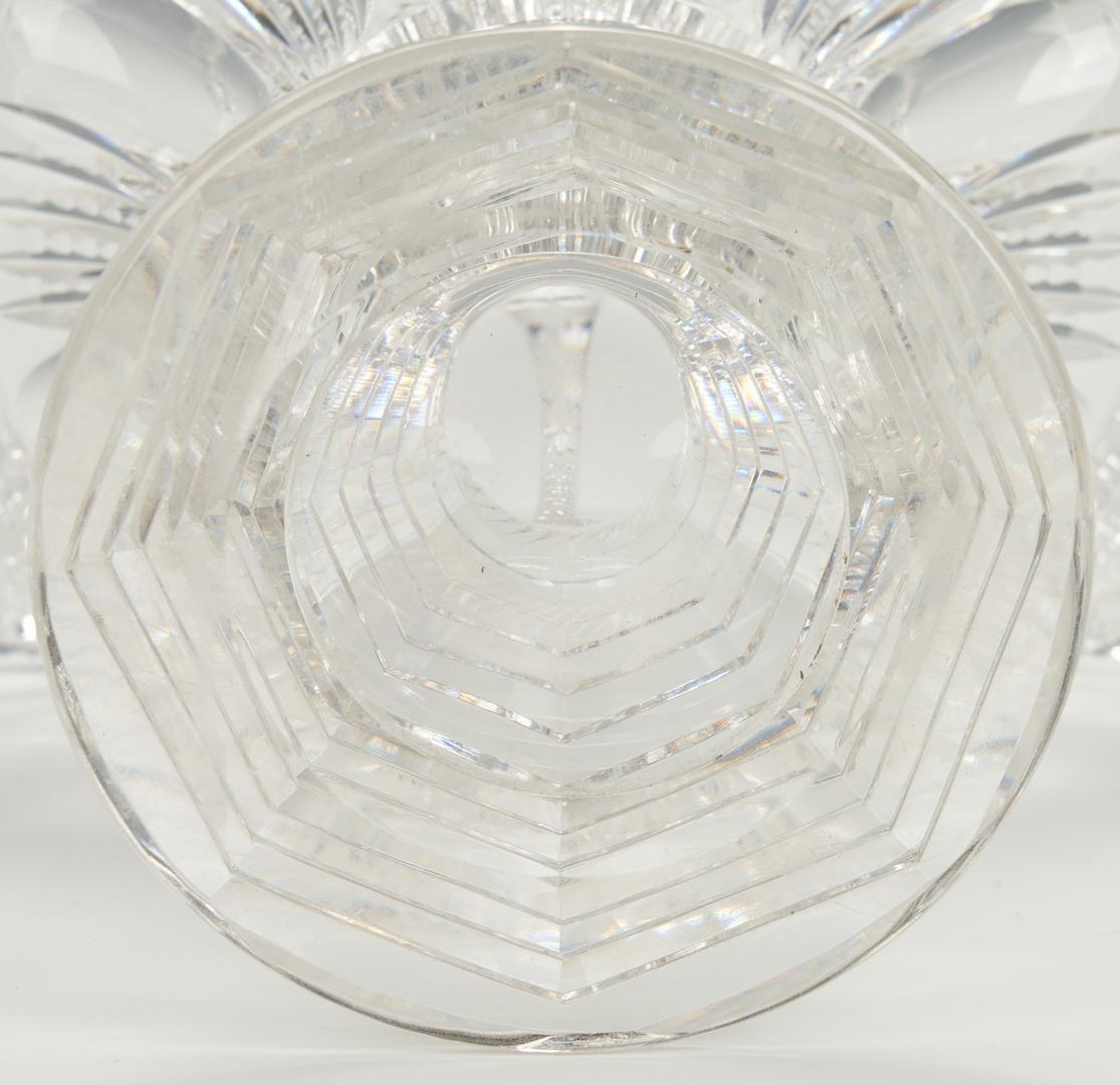 Lot 860: American Brilliant Cut Glass Large Basket