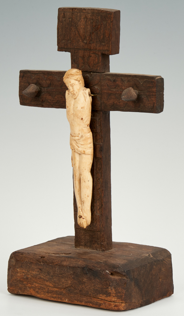 Lot 86: Continental Carved Christ and Cross