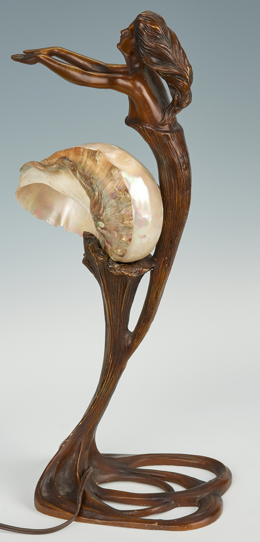 Lot 870: Gustav Gurschner, Bronze Lamp