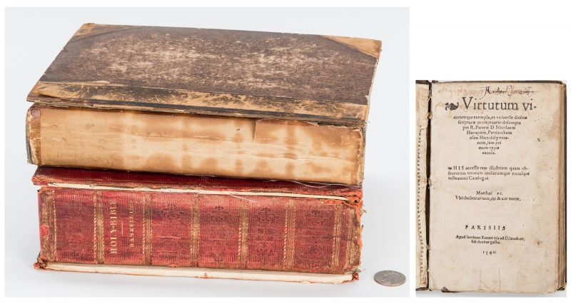 Lot 874: 2 Baskett Bibles plus Nicolas de Hannappes Book