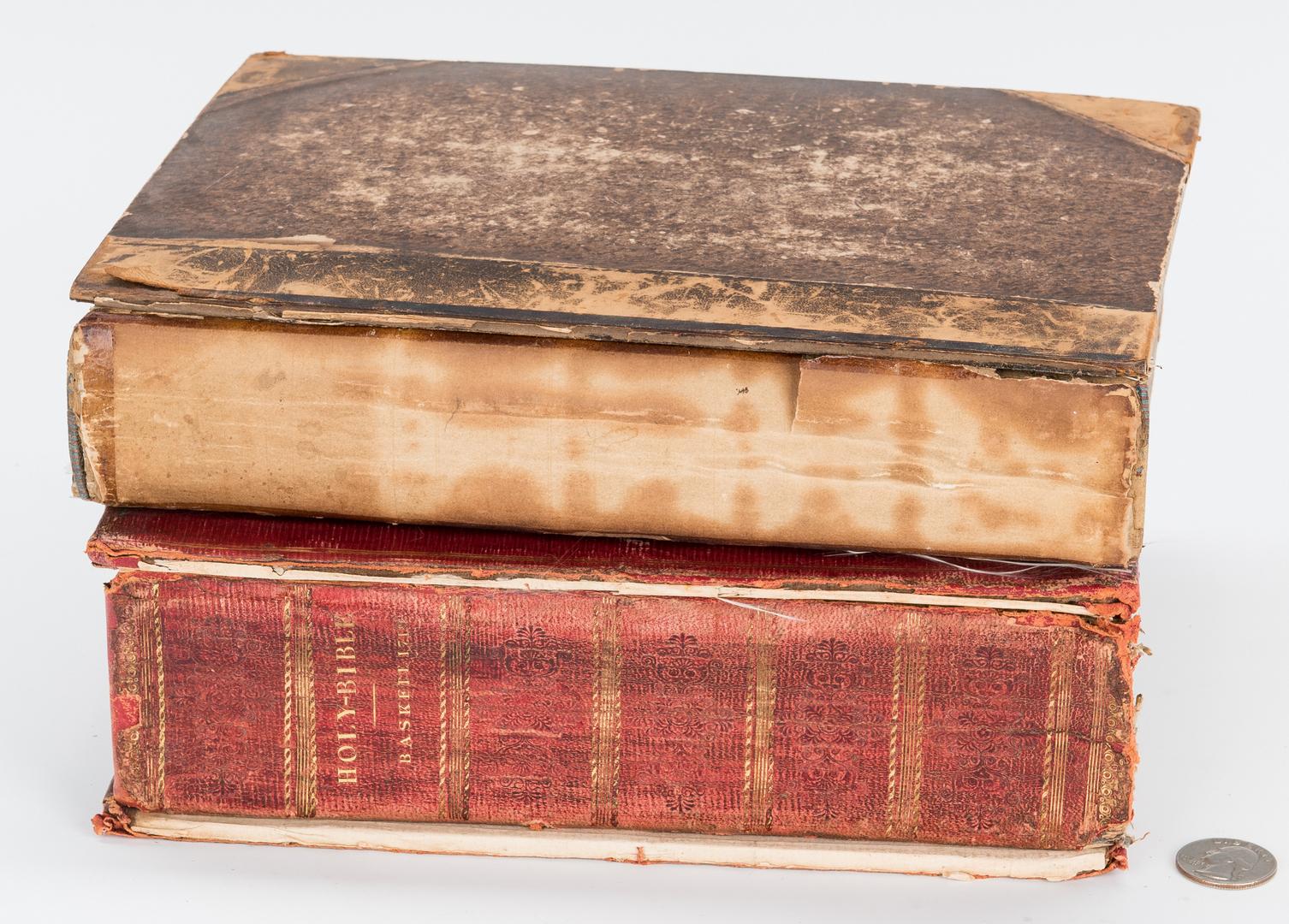Lot 874: 2 Baskett Bibles plus Nicolas de Hannappes Book