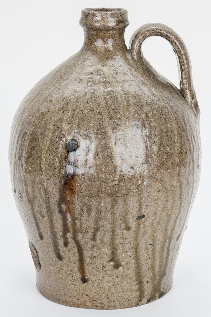 Lot 877: 2 TN Stoneware Pottery Pcs., Jug & Jar