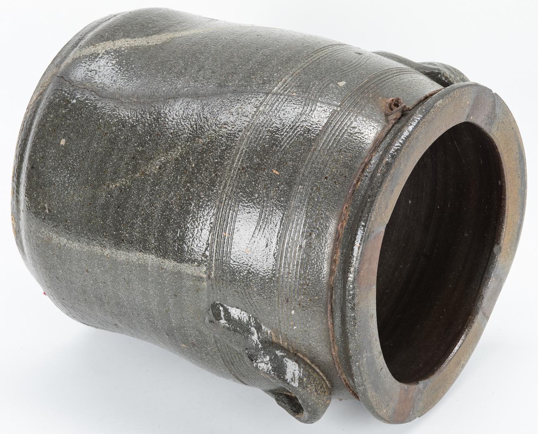 Lot 878: 2 Southern Stoneware Pottery Items, Pitcher & Jar