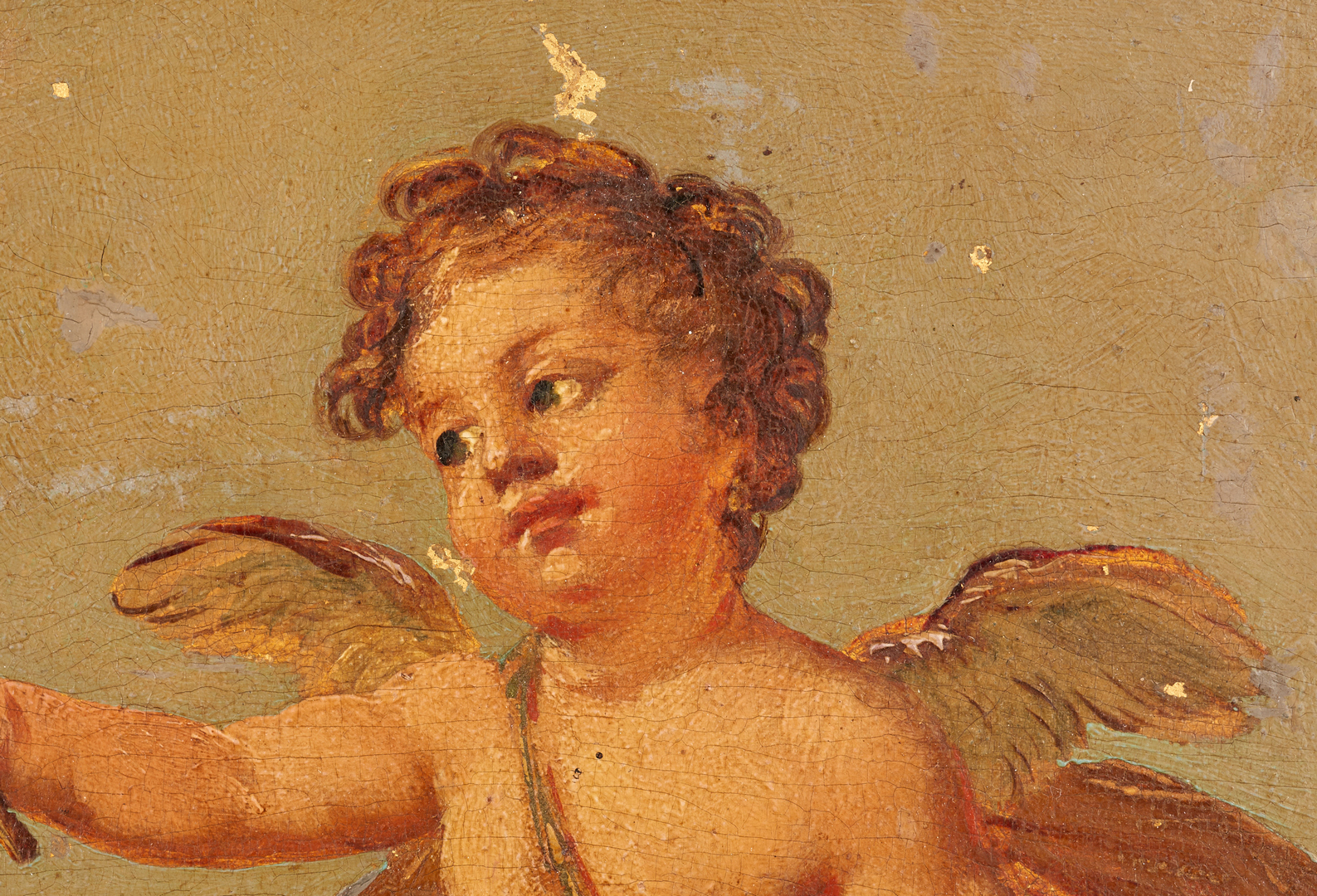 Lot 87: Attr. Christian W.E. Dietrich, 2 Cherub Paintings