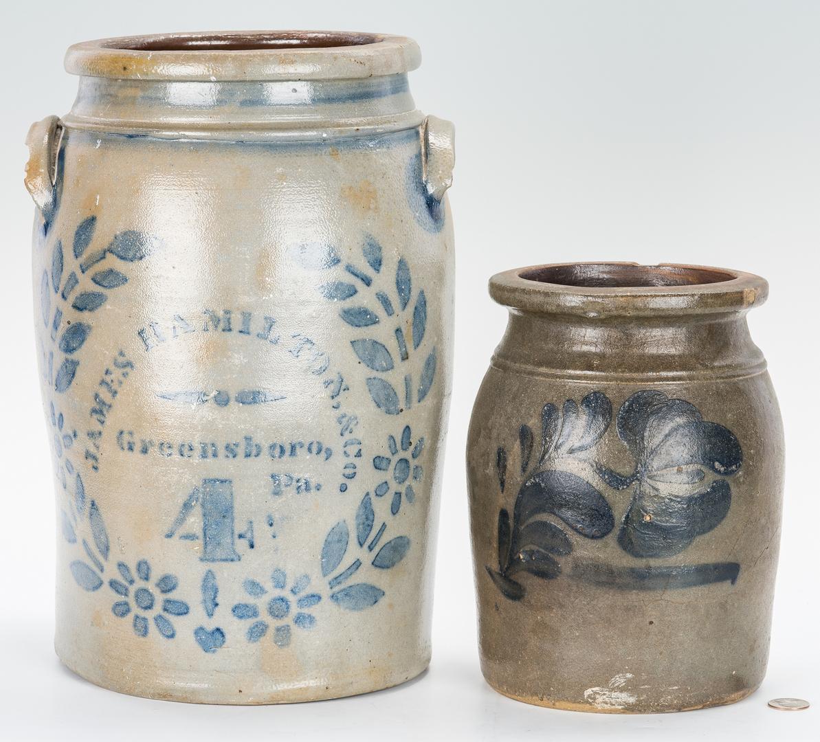 Lot 882: 2 Cobalt Preserving Jars, Incl. Hamilton