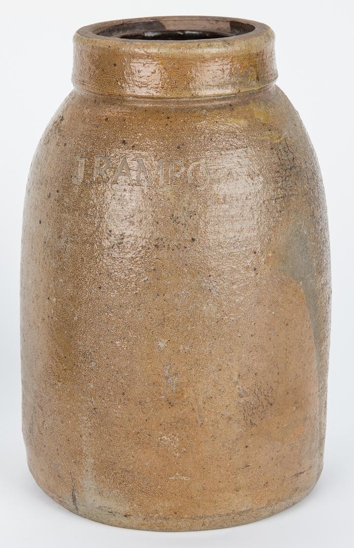 Lot 883: 2 Stoneware Preserving Jars, Ohio & Mid-Atlantic