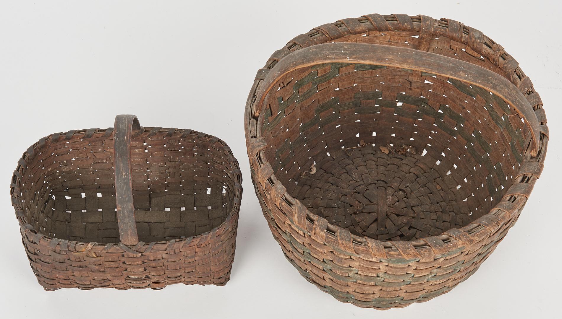 Lot 887: 5 Early Tennessee & Southern Oak Baskets