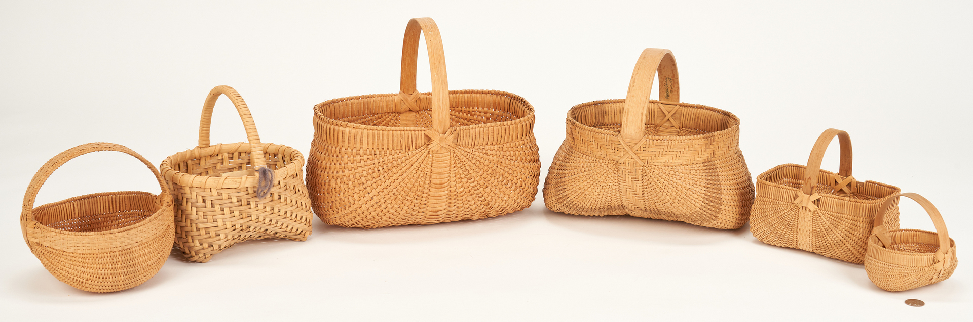 Lot 888: 6 Baskets incl. 2 Prater Family Baskets