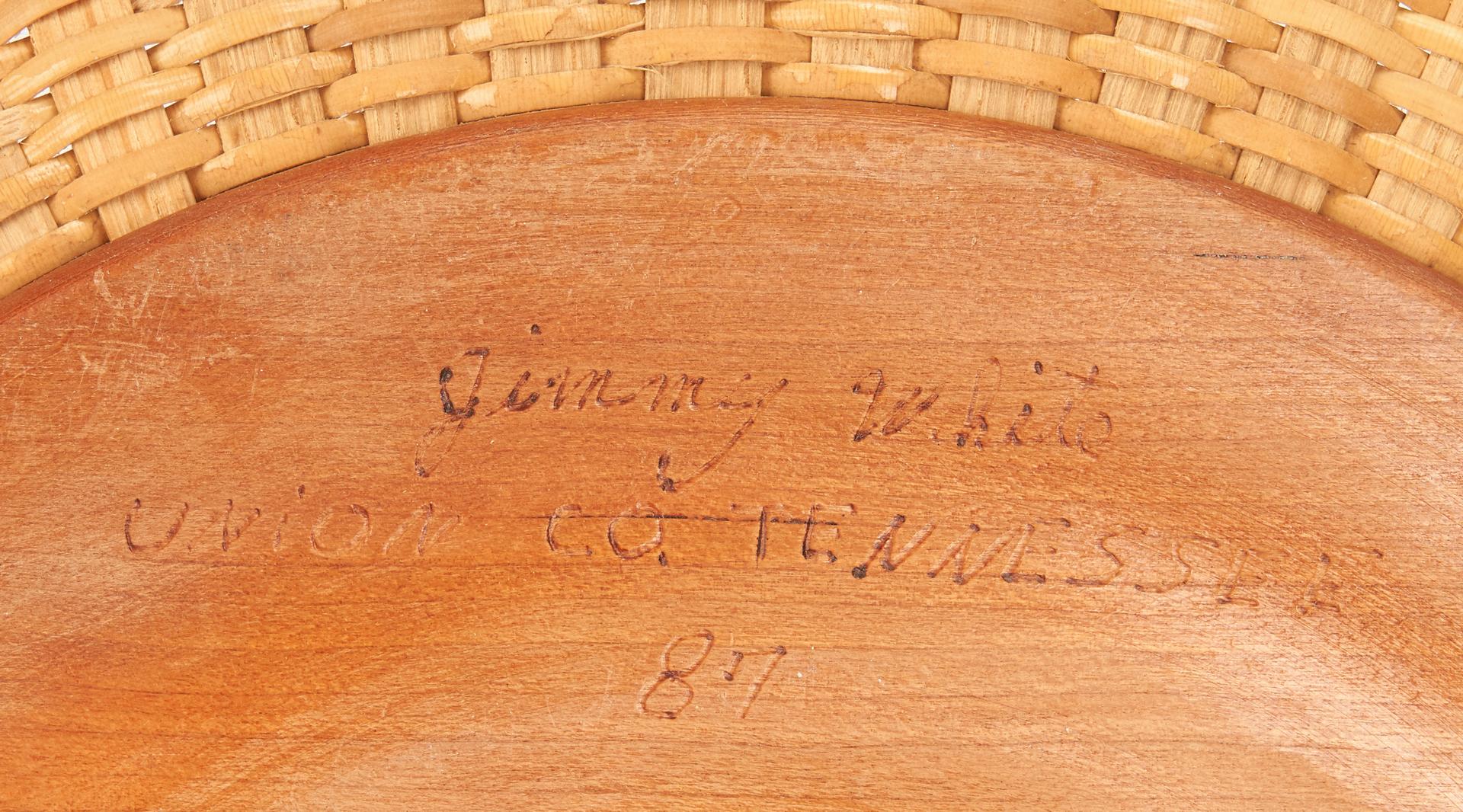 Lot 889: 6 Tennessee Baskets, Jimmy & Bill White