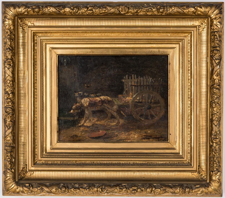Lot 88: Charles Van de Eycken II O/B, Two Dogs Pulling Cart