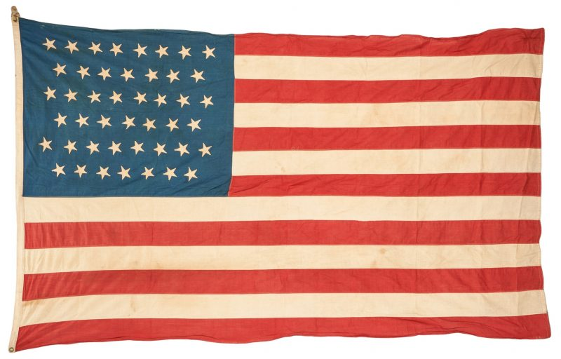 Lot 904: 45 Star American Flag