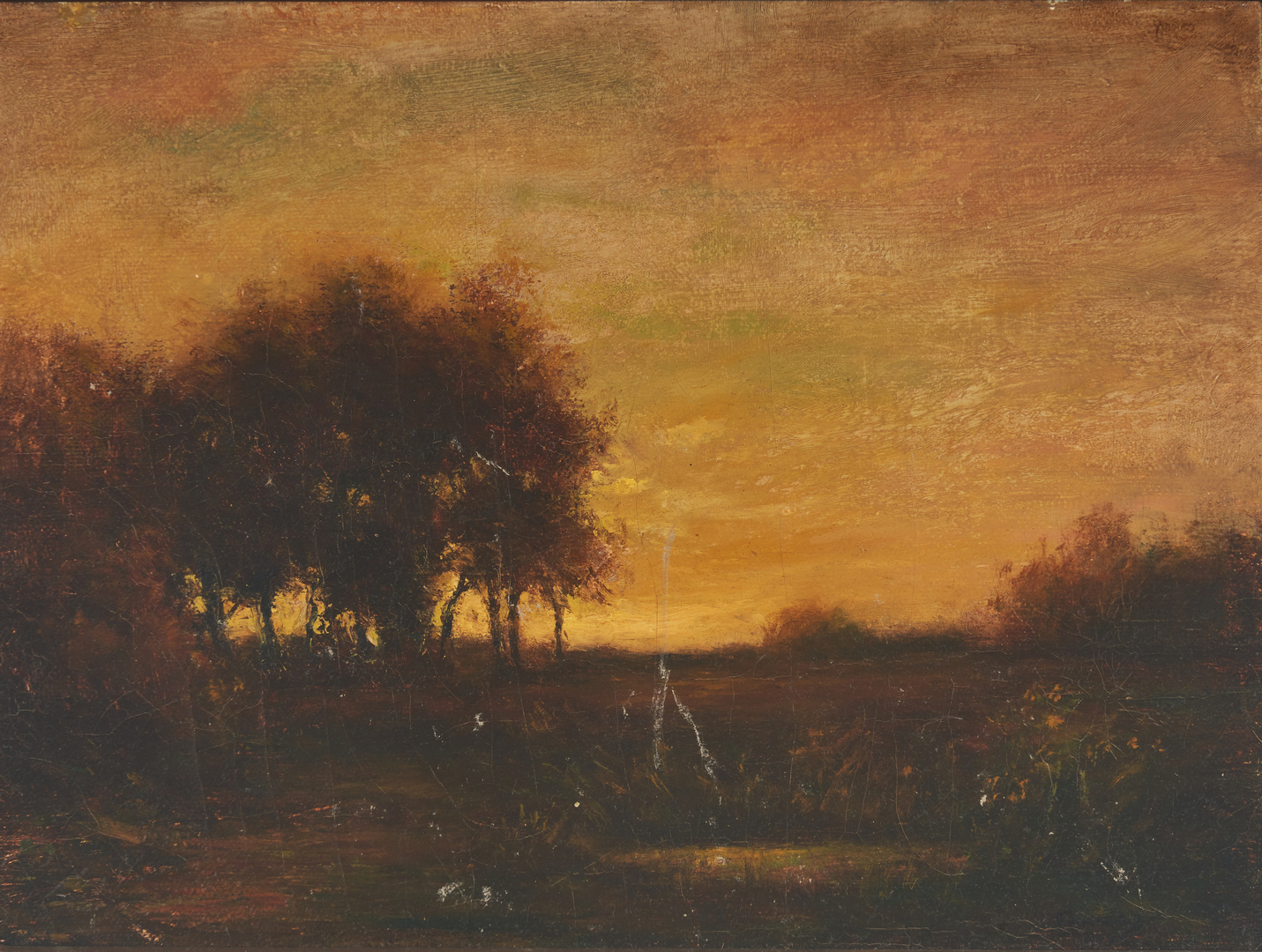 Lot 905: George T. Conroy Oil on Canvas Landscape, Sunset
