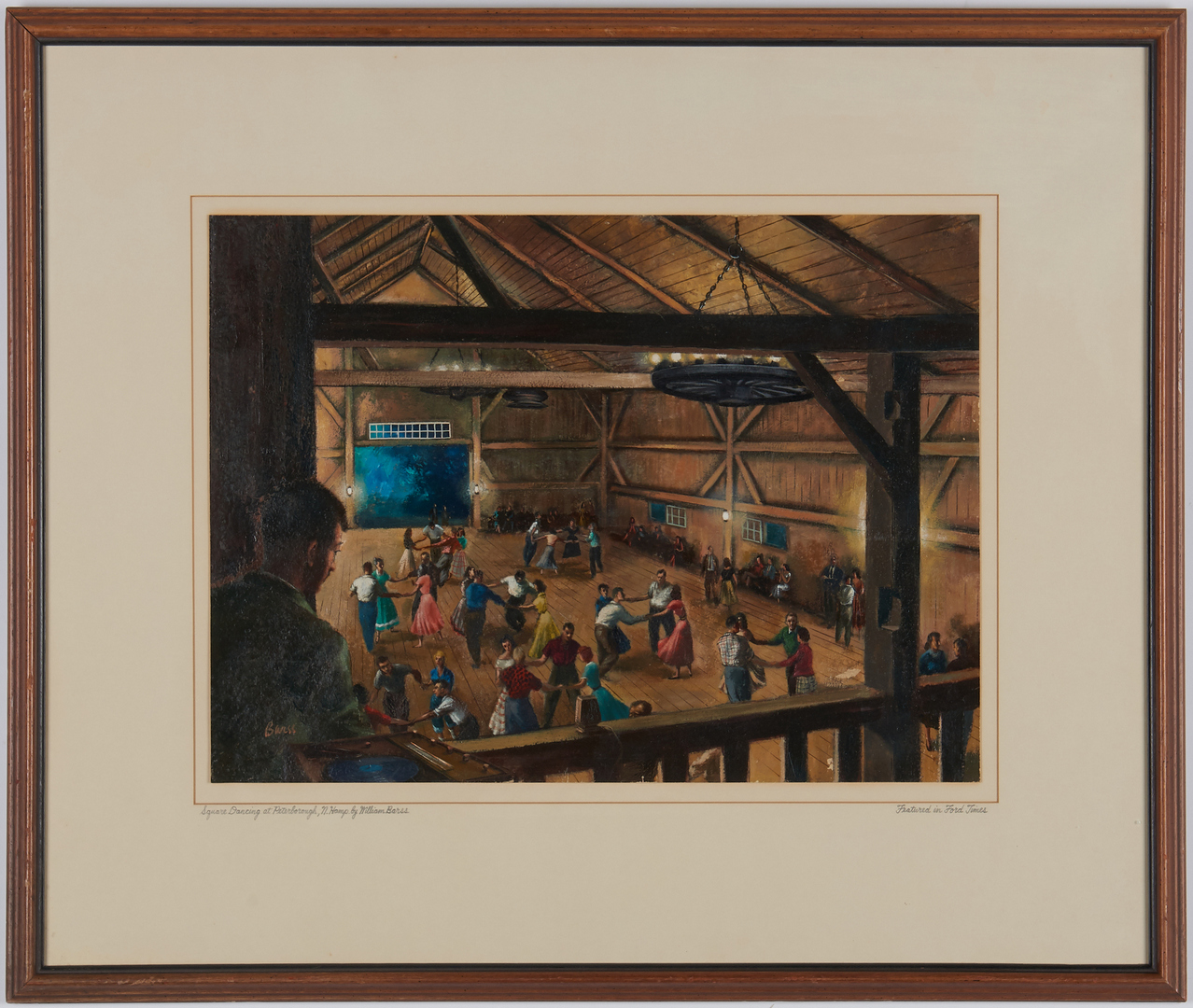 Lot 906: William Barss illustration art, barn dance
