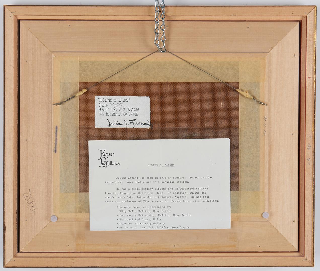 Lot 911: 2 20th Cent. Maritime Paintings, incl. H.H. Ahl, J. Zarand