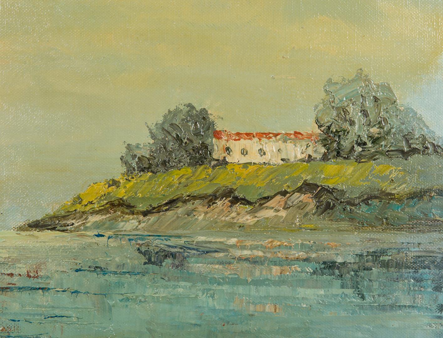 Lot 912: Franz Ambrasath O/C, Maritime Painting of Sailboats