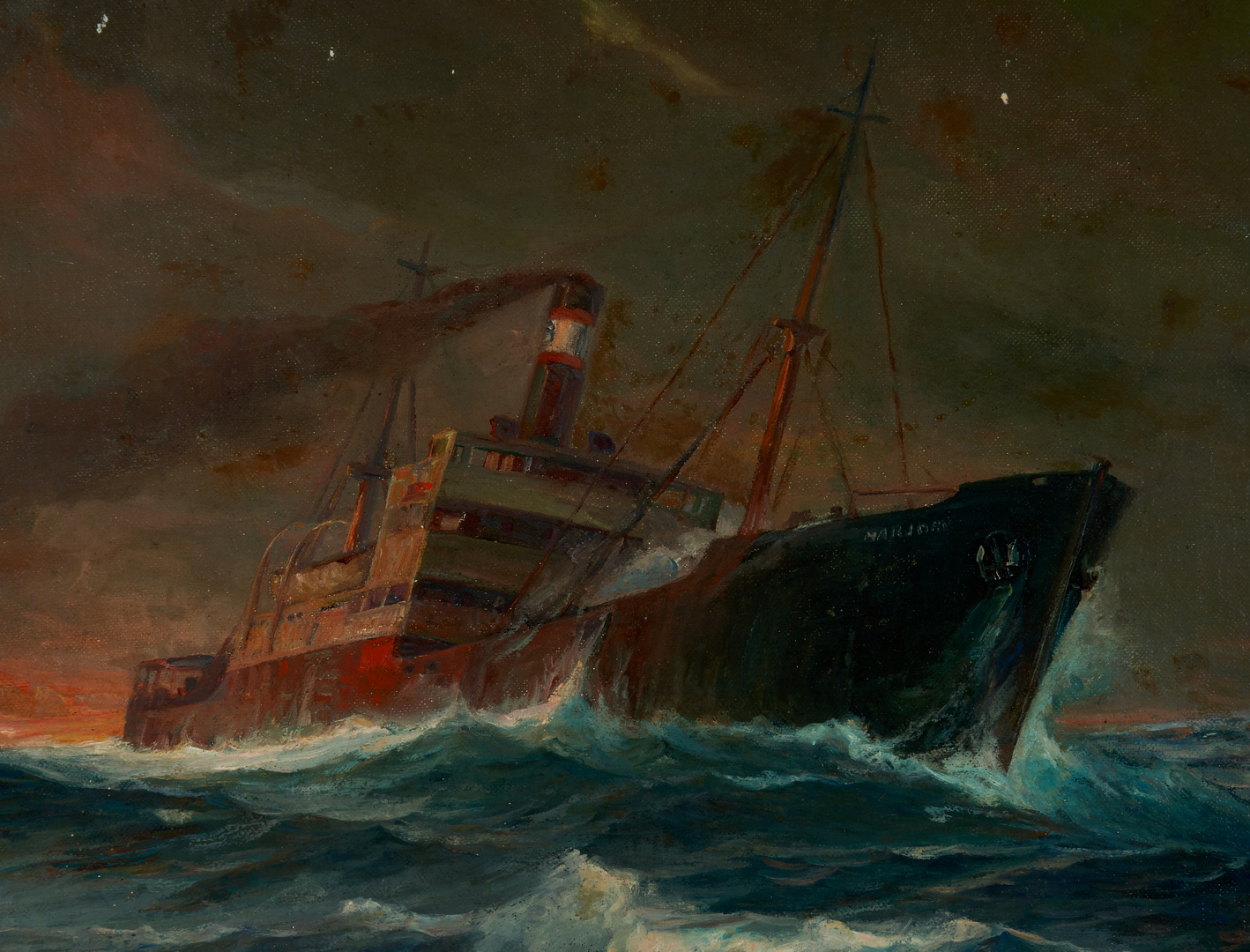 Lot 913: 2 O/C Maritime Paintings, incl. Alfred F. Gerstmayr