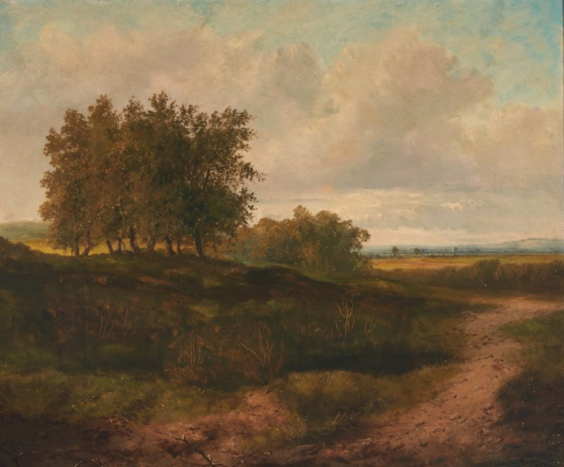 Lot 917: Late 19th century landscape, signed Albert Clark 1882