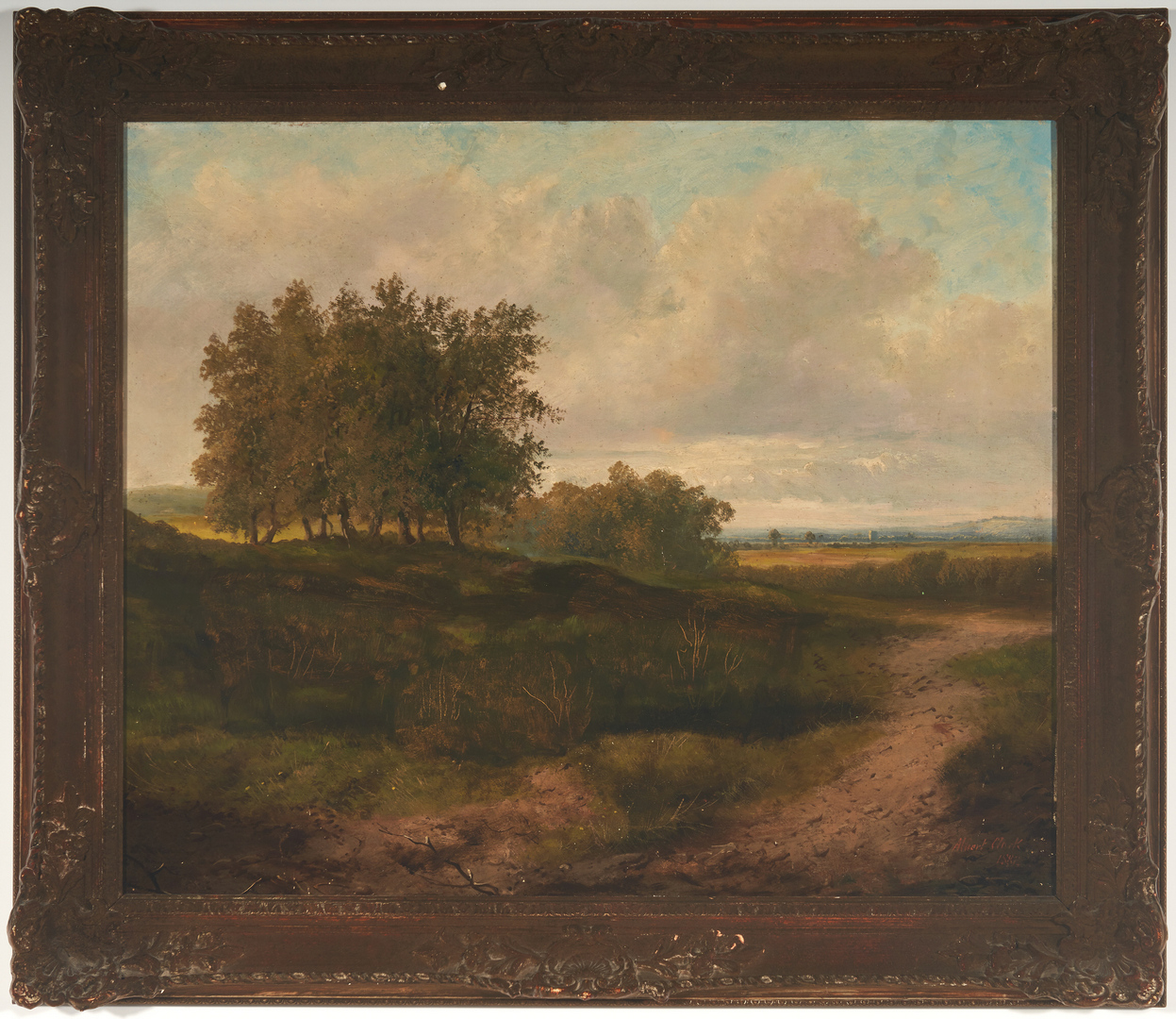 Lot 917: Late 19th century landscape, signed Albert Clark 1882