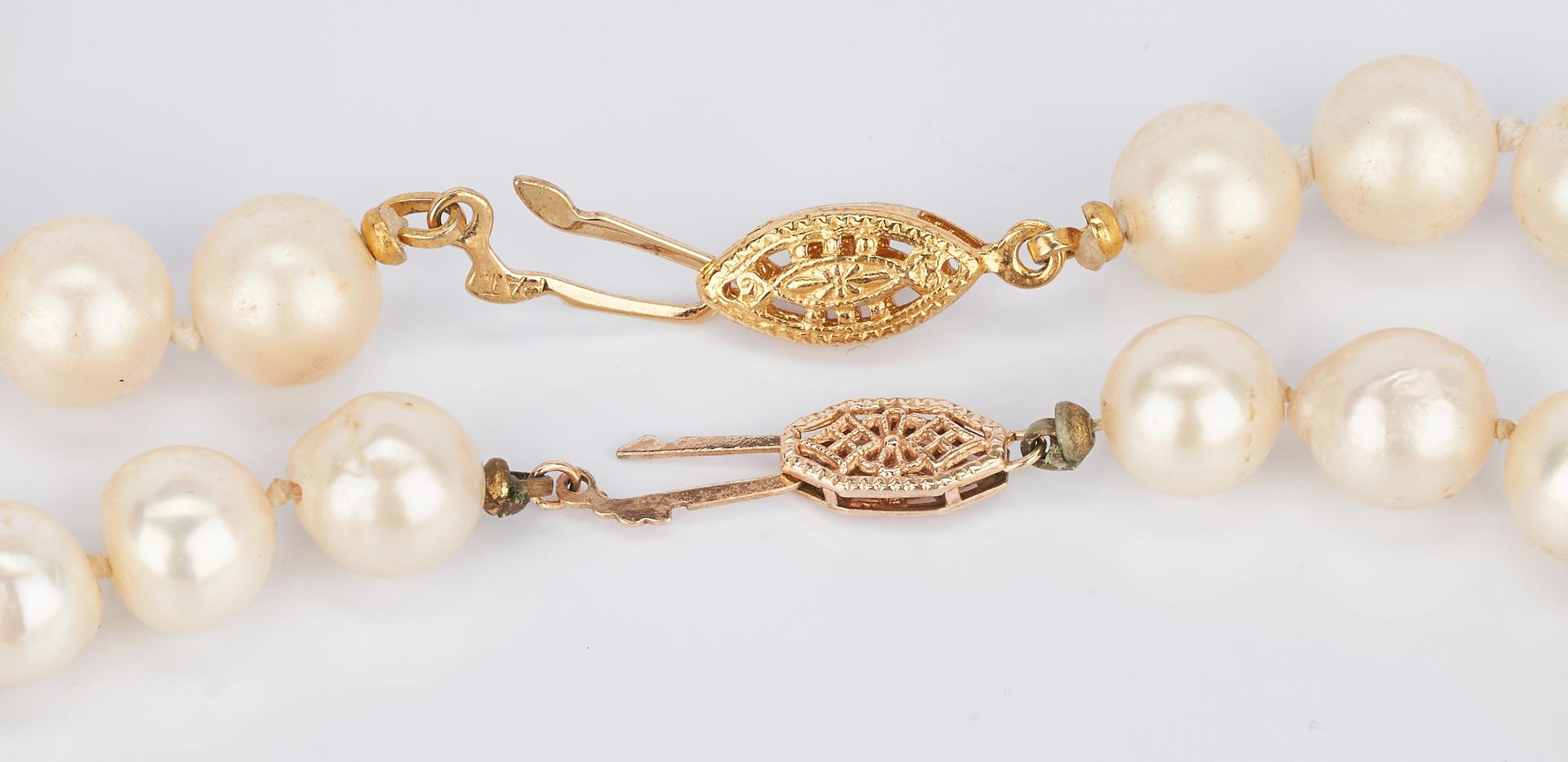 "Lot 929: 2 Pearl Necklaces, 34"" & 54"" L"