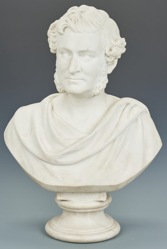 Lot 92: Robert Cauer Marble Bust of a Man