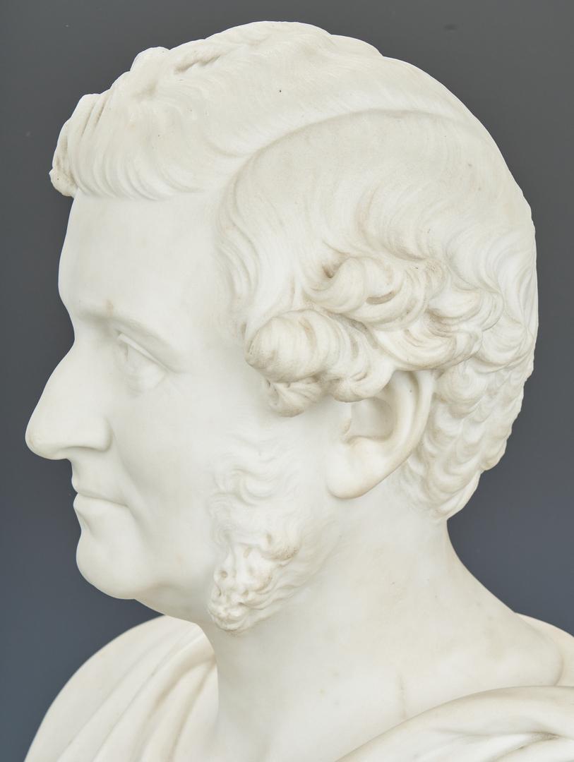 Lot 92: Robert Cauer Marble Bust of a Man