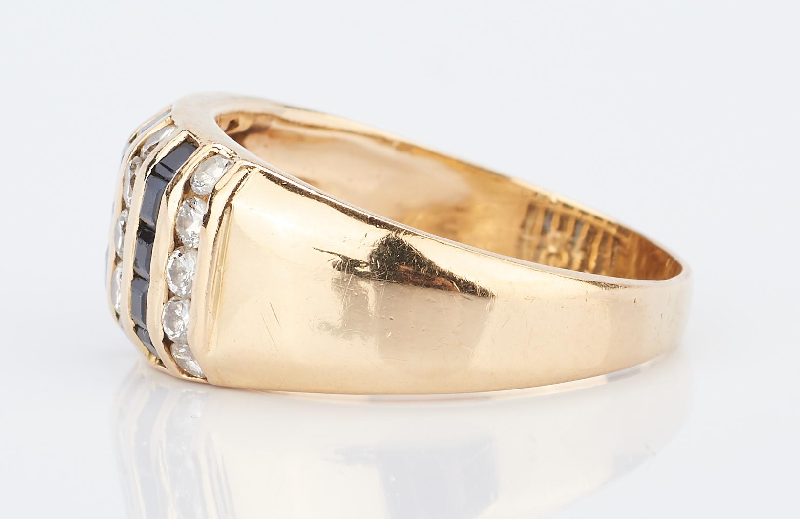 Lot 935: 4 Jewelry Items: 2 Rings & 2 Cross Pendants