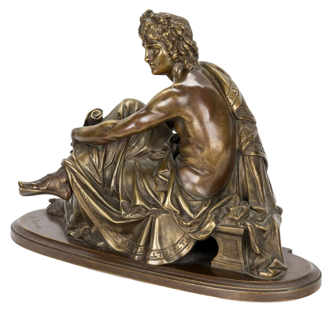Lot 93: A. Carrier French Bronze of Male Figure