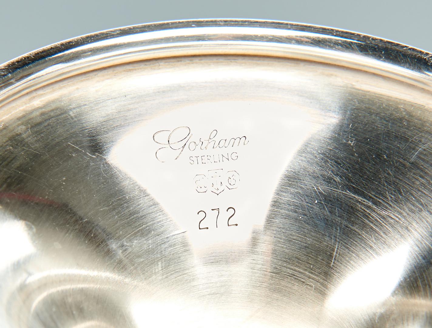 Lot 943: 6 Gorham Sterling Silver Goblets