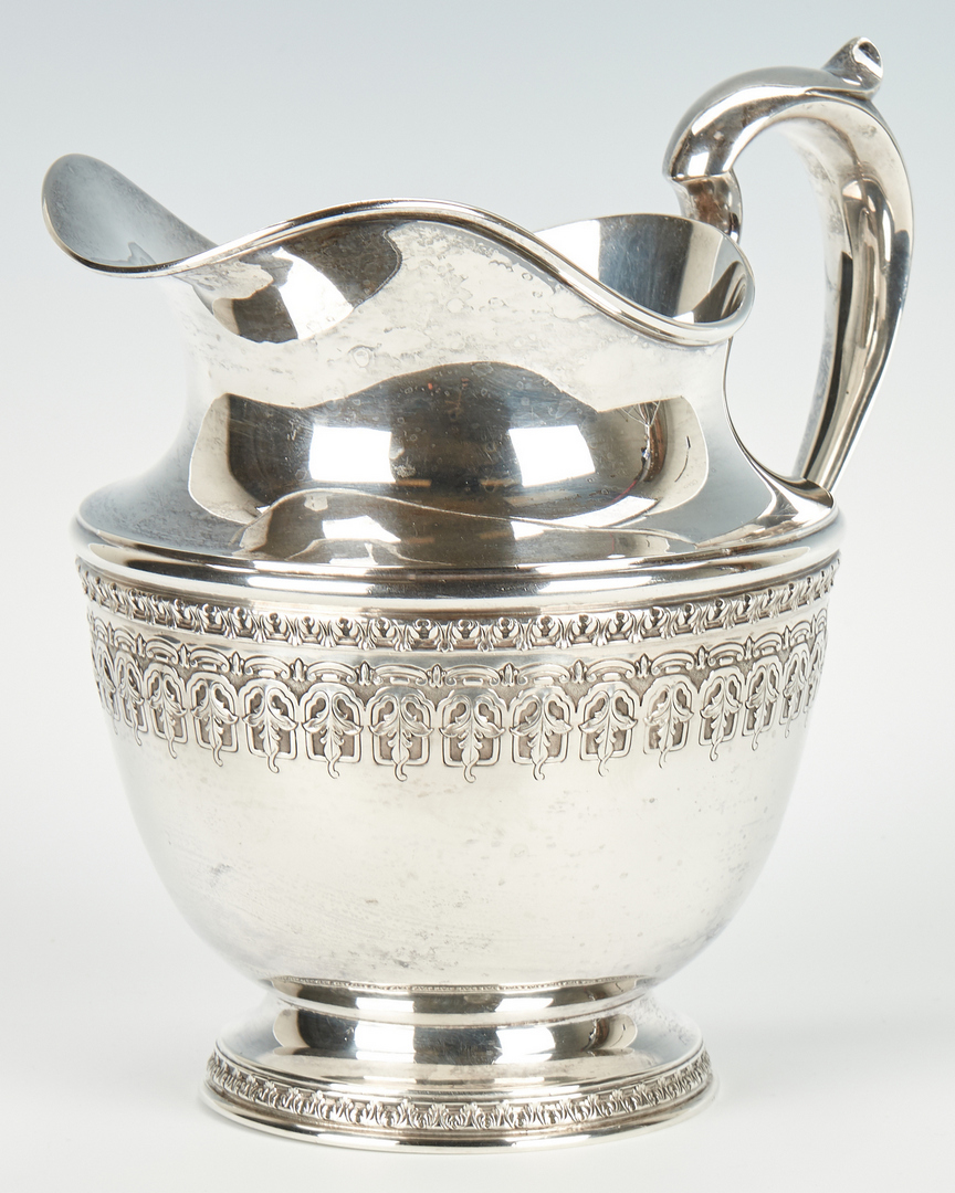 Lot 945: 2 Sterling Silver items, incl. Durgin Pitcher & Gorham Tazza