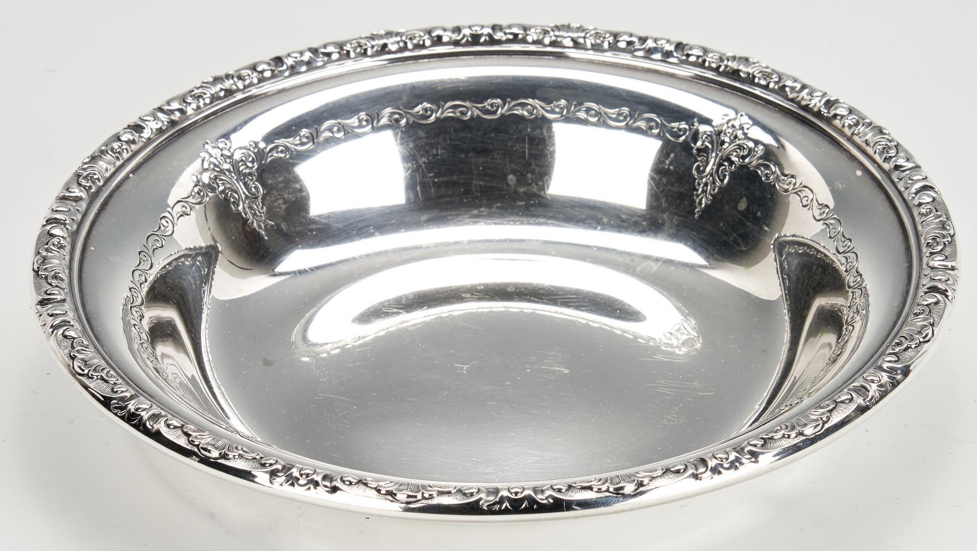 Lot 947: 15 Pcs. Sterling Silver, incl. Kirk Repousse Candelabra