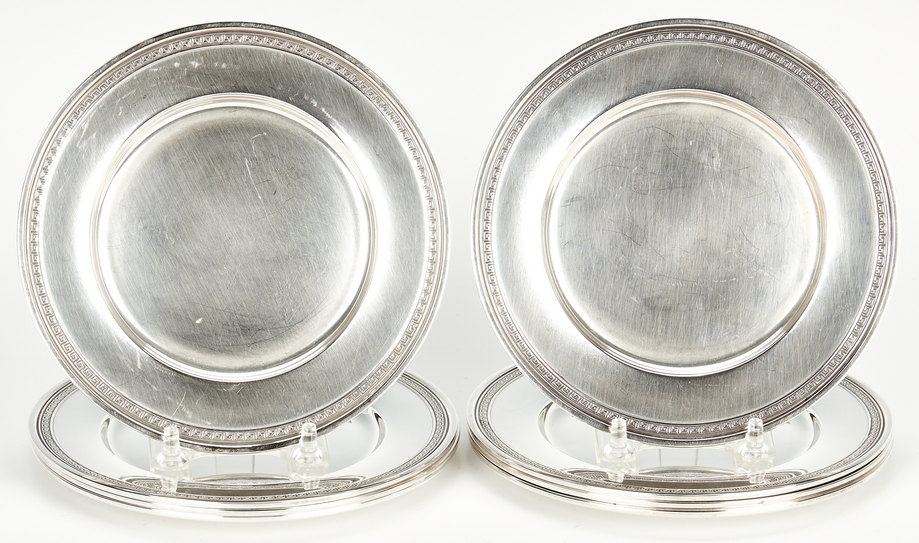Lot 948: 1 Tiffany bowl plus 8 Gorham bread plates
