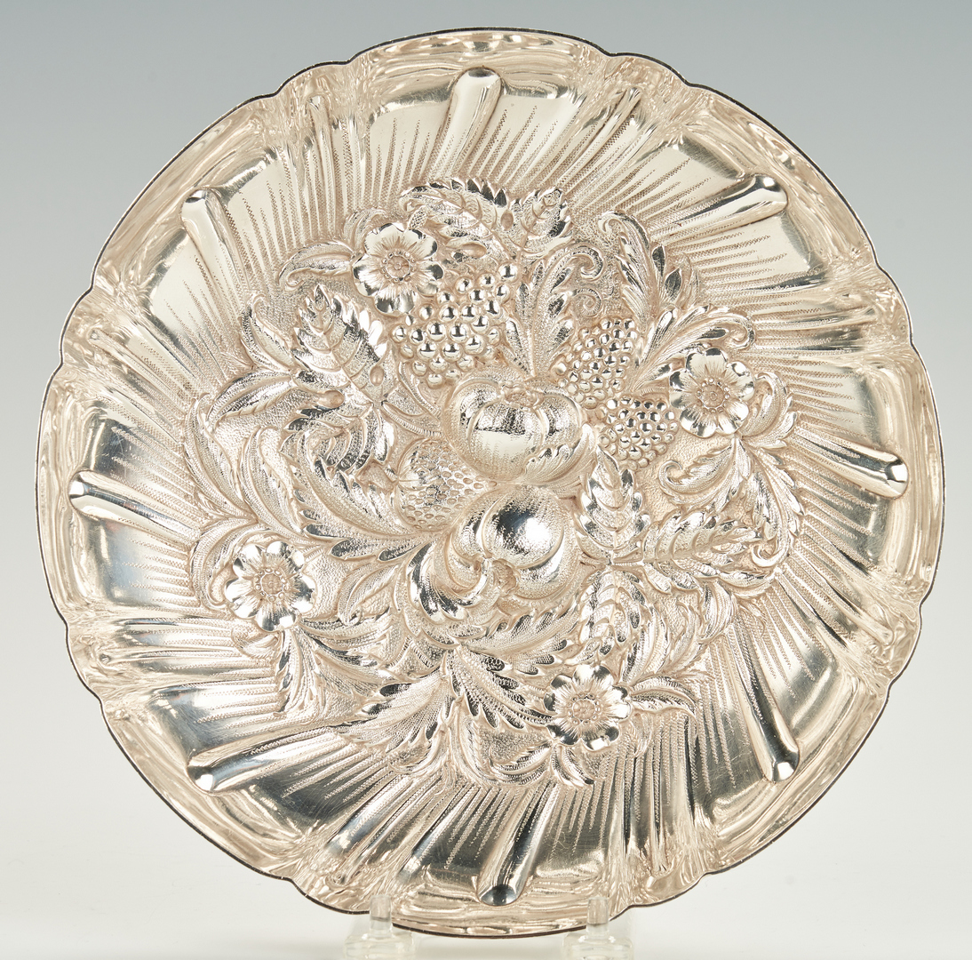 Lot 951: Kirk Repousse Bowl and bread tray