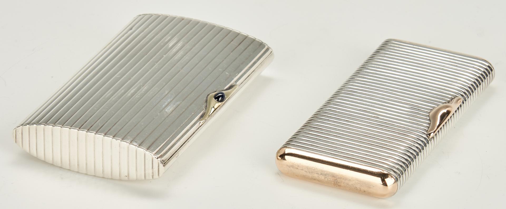 Lot 956: 2 Sterling Cigarette Cases + Traveling Ashtray + Snuff Box