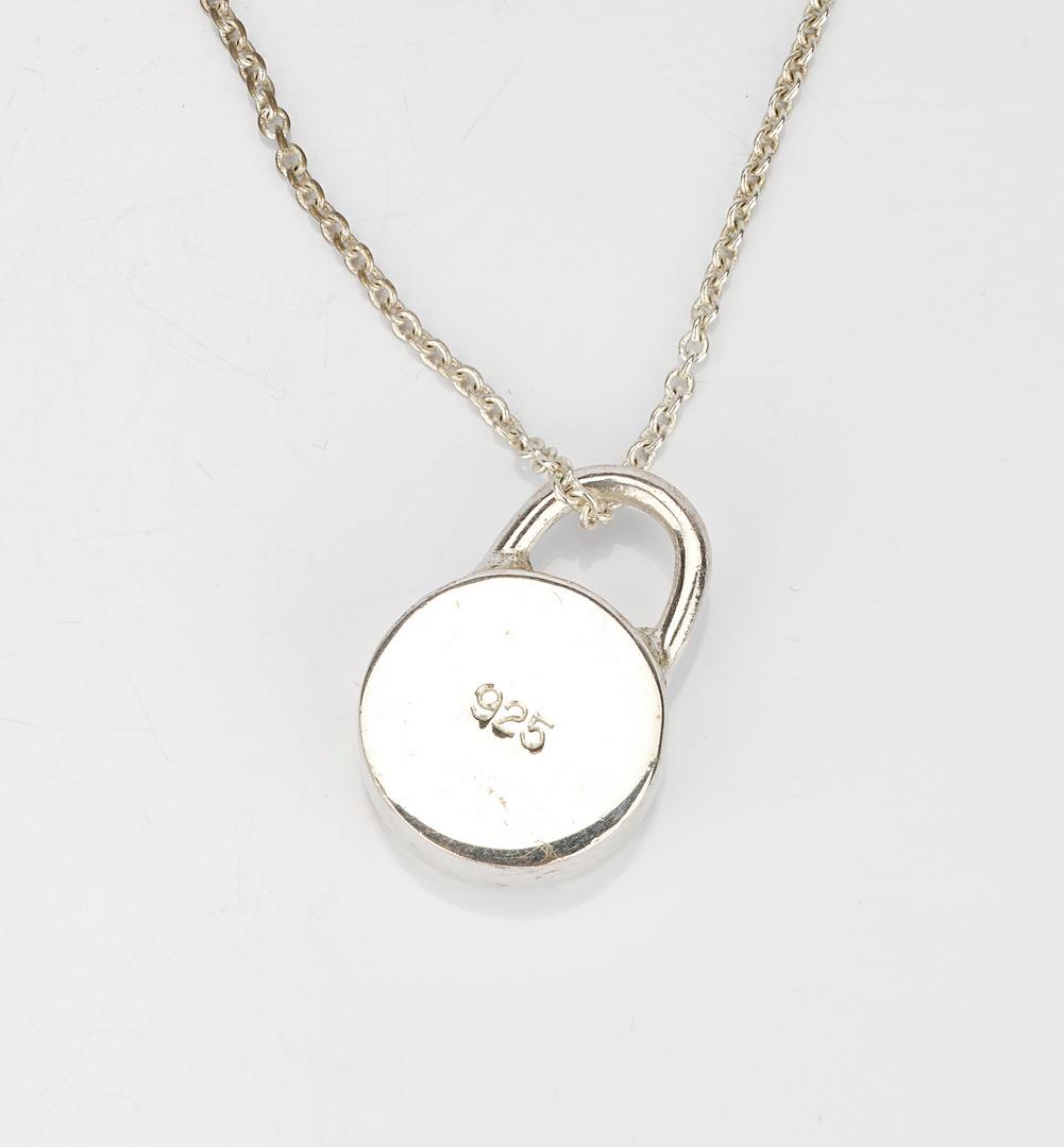 Lot 957: 3 Pieces. Tiffany Silver Jewelry