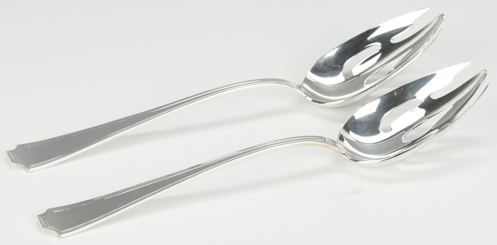Lot 958: Tiffany Strawberry Vine Spoon and 7 Gorham Fairfax Items