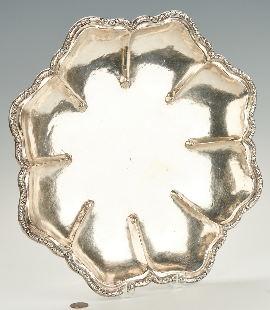 Lot 959: Large Silver bowl marked Plata 900