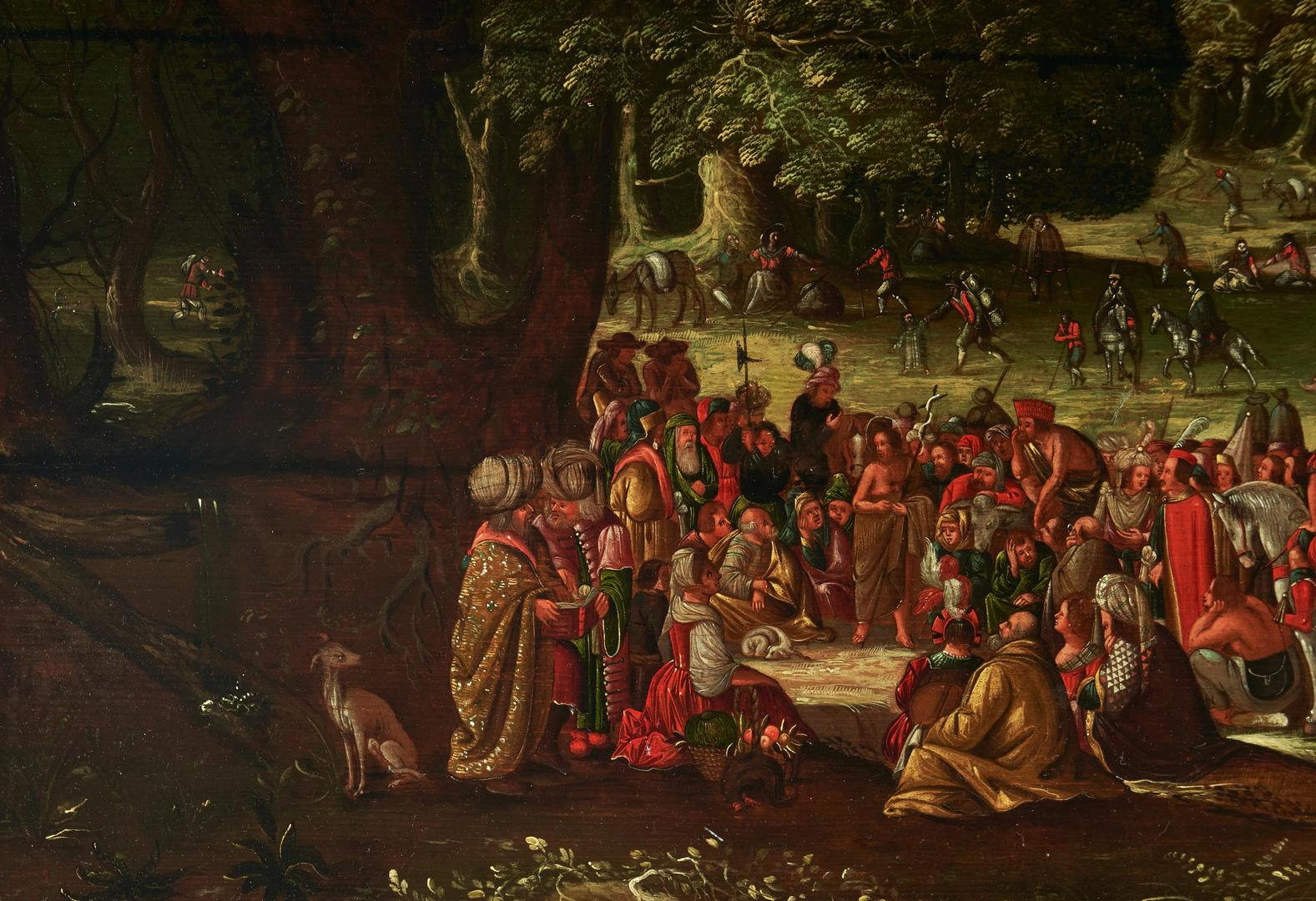 Lot 95: 16th Cent. Flemish School Oil on Board