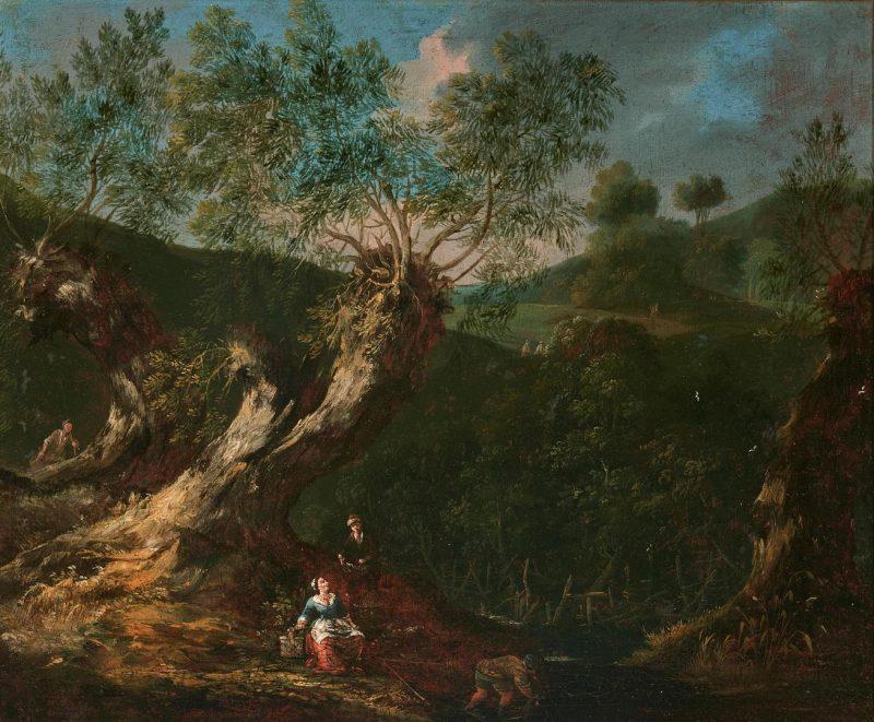 Lot 96: 17th Cent. Dutch School Oil Landscape