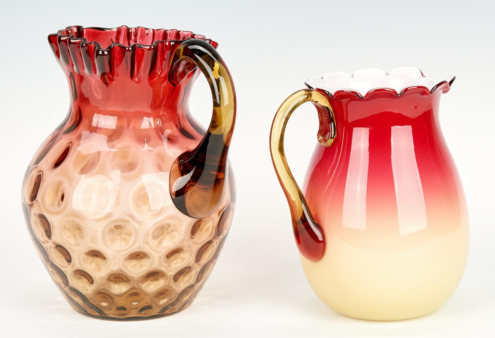Lot 976: 12 Art Glass Items, Peachblow & Amberina