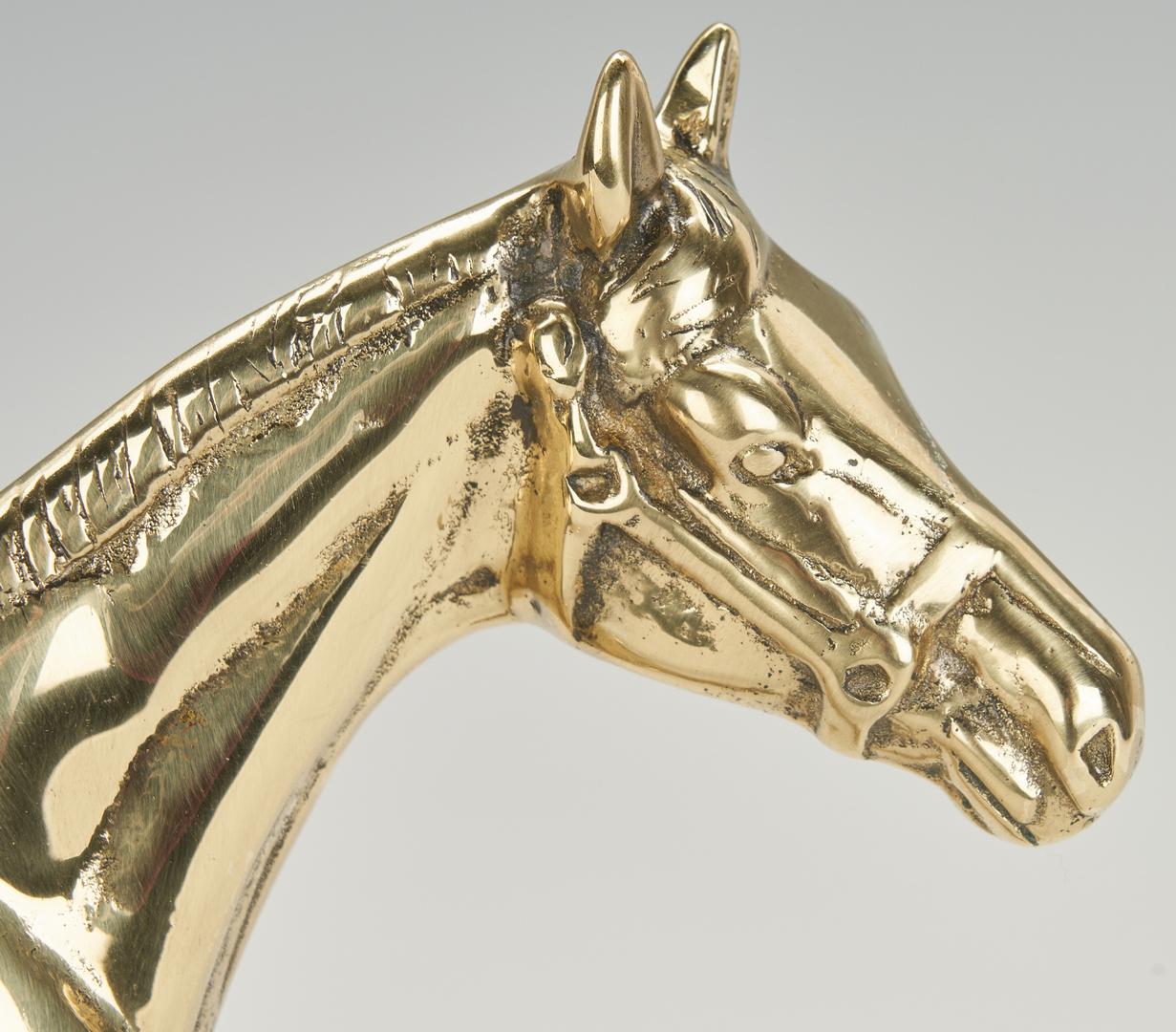 Lot 979: 2 Equestrian Doorstops plus Copper Footed