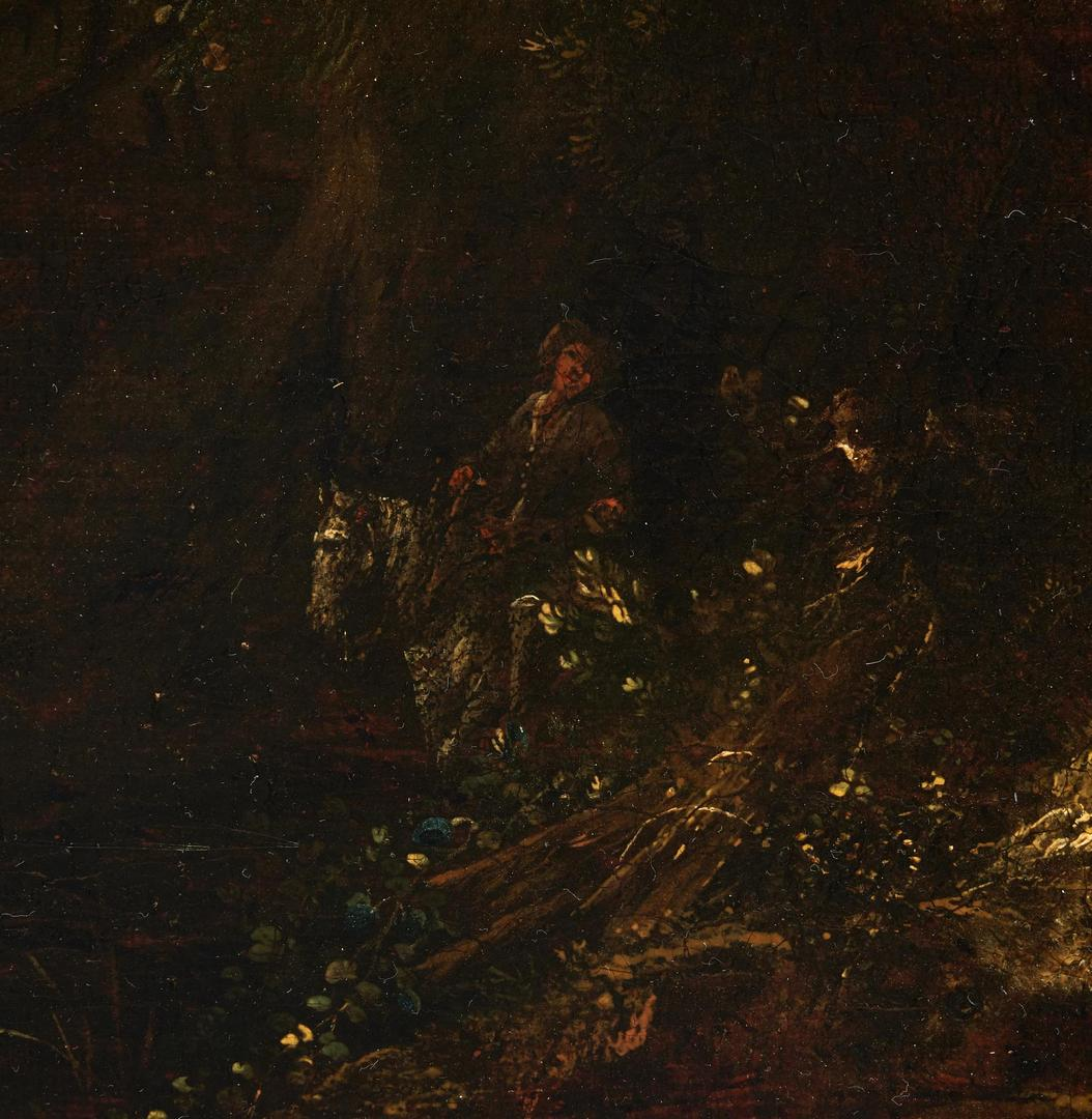 Lot 97: 17th Cent. Dutch School Oil Landscape