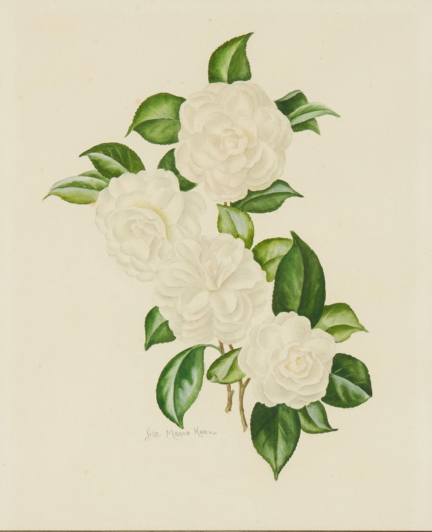 Lot 984: 4 Lila Moore Keen Floral Watercolor Paintings
