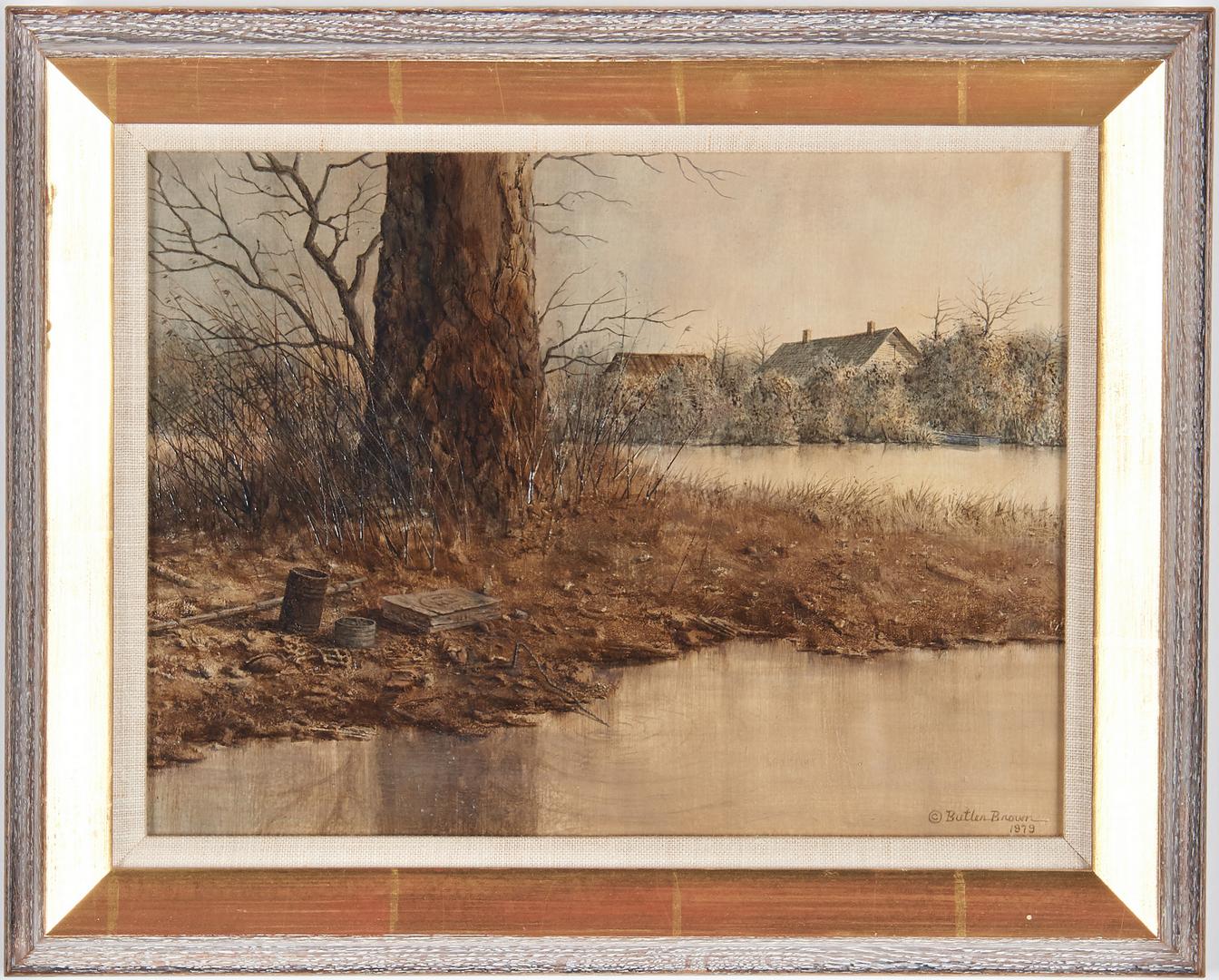Lot 986: Butler Brown Oil on Board Landscape