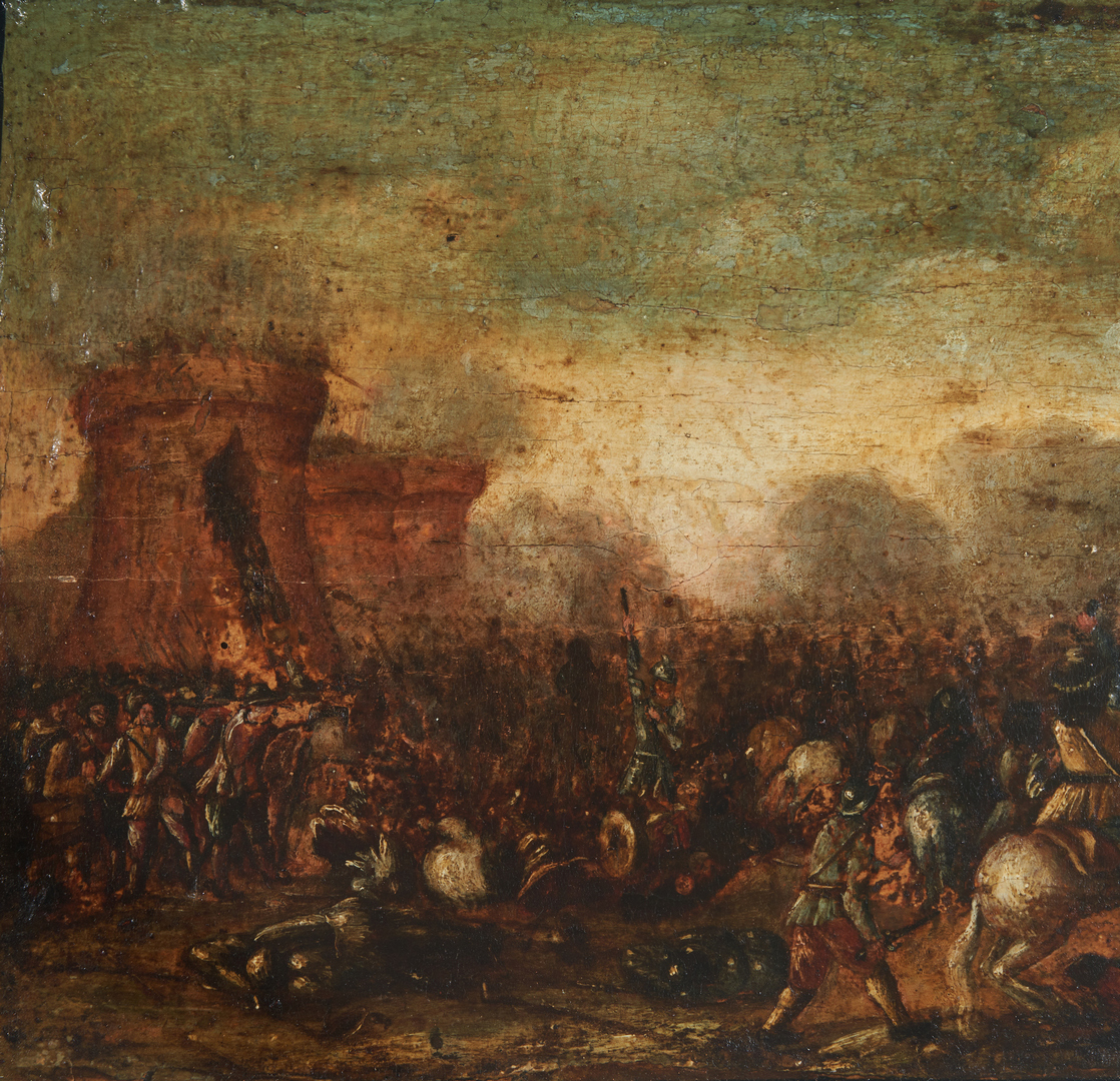 Lot 98: Circle of Jacques Courtois, Battle Scene
